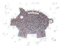 Symbol  piggy bank. Royalty Free Stock Image
