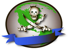Symbol of pirates. The image represented by a symbol which symbolizes the domination of cyber pirates crime in the Royalty Free Stock Photos