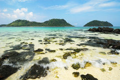 The symbol place of Kai island , Satun Royalty Free Stock Photo