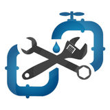 Symbol plumbing and repair Royalty Free Stock Photography