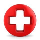 Symbol plus on white background Stock Image
