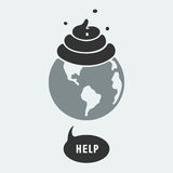 Symbol pollution of the planet Royalty Free Stock Photo