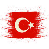 Symbol, poster, banner Turkey. Map of Turkey with the decoration of the national flag. Style watercolor drawing. Vector. Stock Images