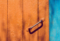 Symbol of poverty line. Old door handle Royalty Free Stock Photos