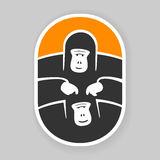 Symbol primate gorilla. EPS 8 file format Royalty Free Stock Images