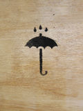 Symbol protect from rain. Box expedition Stock Image