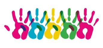 Symbol różnorodność wręcza symbol ilustracji