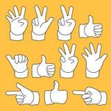 Symbol ręka w Prostym kształcie Fotografia Royalty Free