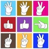 Symbol ręka w Prostym kształcie Zdjęcie Royalty Free