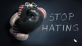 Symbol of the race riots in the USA. Symbol to stop the race riots in the United States Stock Photo