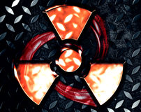 Symbol of radiation Stock Photo