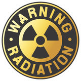 Symbol of radiation stock illustration