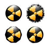 Symbol of radioactive contamination. On a white background Royalty Free Stock Photos