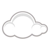 Symbol of a raincloud Stock Photos