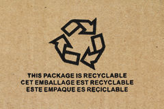 Symbol - Recyclable packaging Royalty Free Stock Image