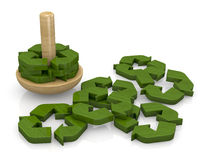 Symbol of recycling as a toy Royalty Free Stock Images