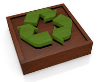 Symbol of recycling as a toy Royalty Free Stock Photos