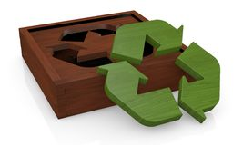 Symbol of recycling as a toy Royalty Free Stock Photo