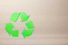 Symbol of recycling on  background Stock Image