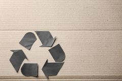 Symbol of recycling on background Royalty Free Stock Photography
