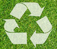 Symbol of recycling Stock Photo