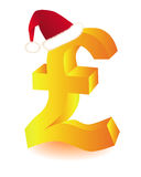 Symbol in red cap pounds Santa Stock Photo