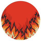Symbol of red fire.Vector symbol Royalty Free Stock Images