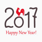 Symbol red rooster for year 2017. New year`s banner with symbol of the year 2017 red rooster Stock Image