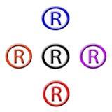 Symbol registriert Stockfoto