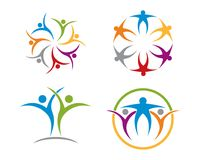 Community care logo collection. Is a symbol related to social, humanitarian, cooperation, teamwork, business, charity or foundation Royalty Free Illustration