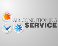Symbol repair air conditioning Stock Images