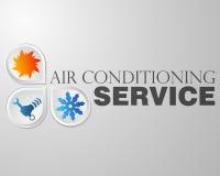 Symbol repair air conditioning. Symbol air conditioning repair business Stock Images