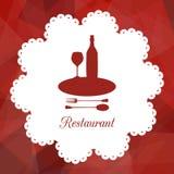 Symbol of restaurant Royalty Free Stock Photo