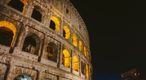 The symbol of Rome, the amphitheater of the Colosseum, stock photos