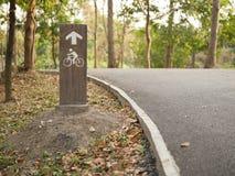 Symbol rowerów pasy ruchu Fotografia Royalty Free