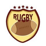 Symbol of rugby Royalty Free Stock Image