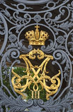 Symbol of russian empire. On gate of Winter Palace in St.Petersburg, Russia royalty free stock photo