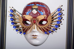 The symbol of the Russian National theatre Award-the Golden mask Stock Photos