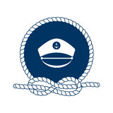 Symbol of sailors, sail, cruise and sea. Vector. Royalty Free Stock Image