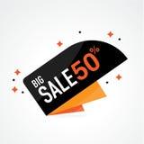 Symbol Sale och specialt erbjudande 50% av också vektor för coreldrawillustration Royaltyfria Foton