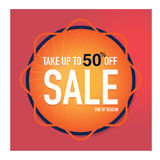 Symbol Sale och specialt erbjudande 50% av också vektor för coreldrawillustration Fotografering för Bildbyråer