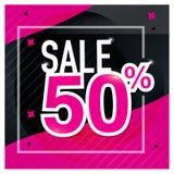 Symbol Sale och specialt erbjudande 50% av också vektor för coreldrawillustration Royaltyfria Bilder