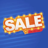 Symbol Sale och specialt erbjudande 50% av också vektor för coreldrawillustration Royaltyfri Bild