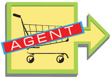 Symbol for the sales agent Stock Photography