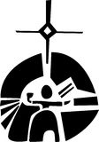 Symbol of Sami Sun Diety Royalty Free Stock Photos