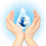 The symbol of Save Planet. Royalty Free Stock Photos
