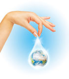 The symbol of Save Planet Stock Photo