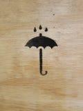 Symbol schützen sich vor Regen Stockbild