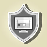 symbol screen computer Royalty Free Stock Images
