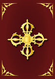 Bouddhist Golden - Double Vajra Stock Photos